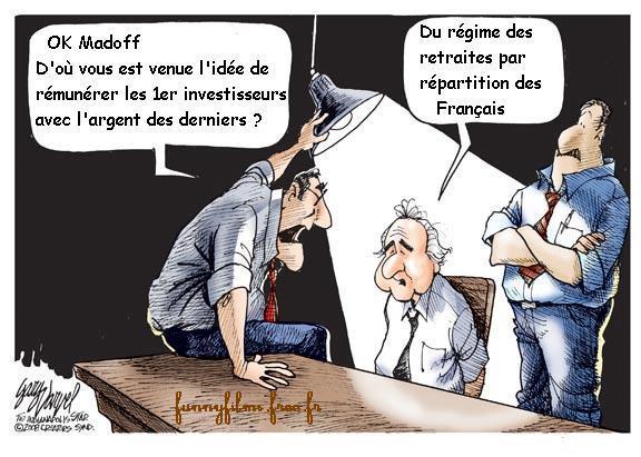 bernard madoff chaine de ponzi régime de retraites par répartition en France