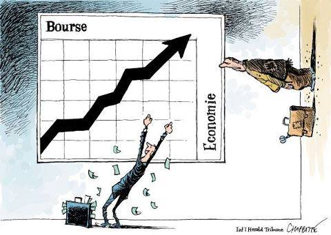 bulle financière en bourse vs économie