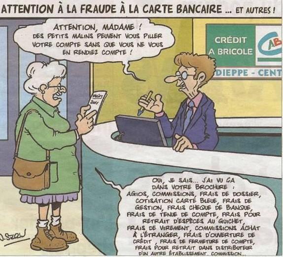 fraude carte bancaire banques risques pillage de compte frais