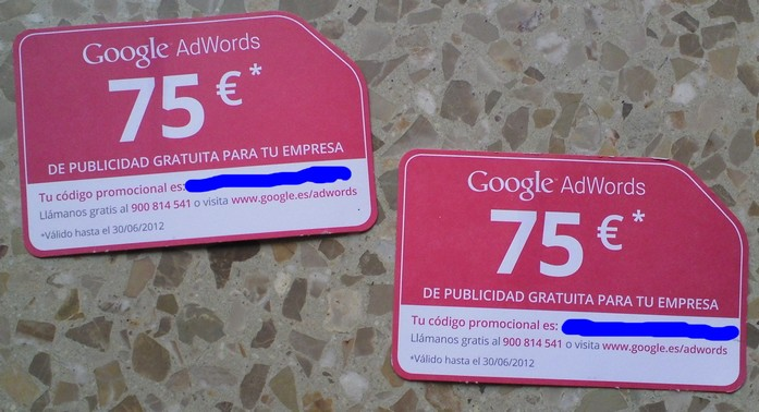 coupons google adwords valides jusqu'au 30 juin 2012 inclus