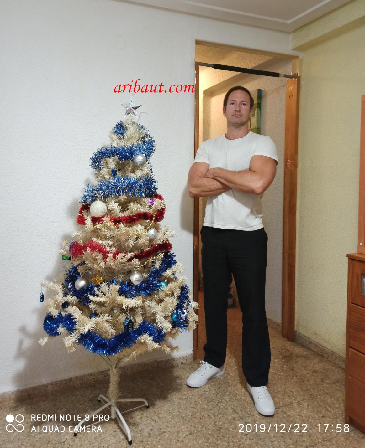 Joyeux noël, arbre de nöel chez moi à Paiporta, Valence, Espagne