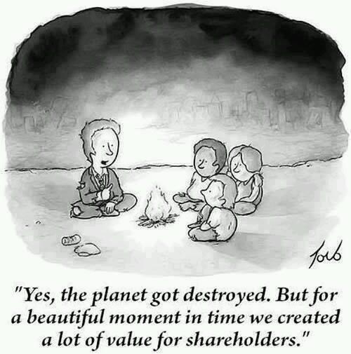 planète détruite pour les actionnaires