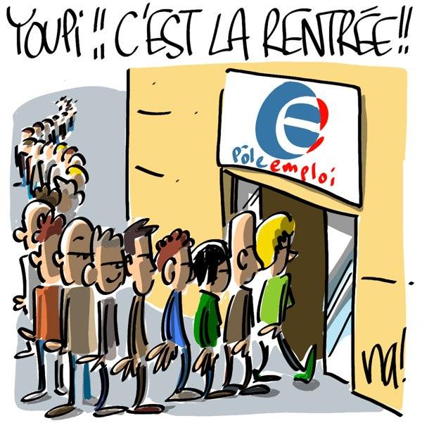 la rentrée économique en France forte hausse du chômage