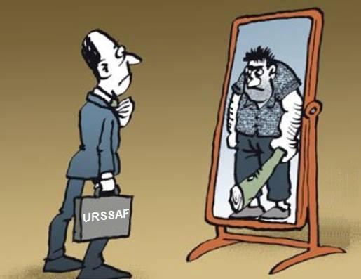 urssaf image dans le miroir