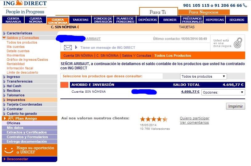 zetrader cuenta sin nomina ing direct 16 mai 2014