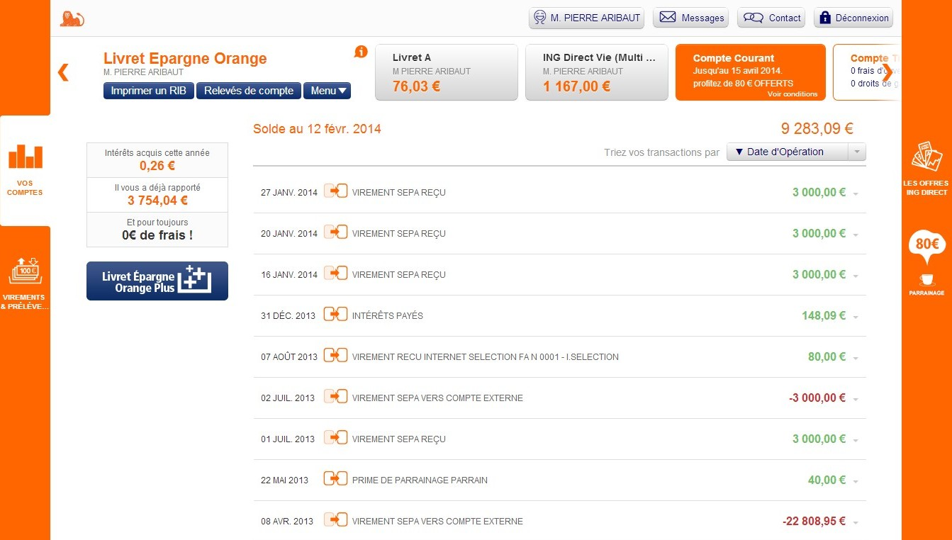 zetrader livret ing direct epargne orange 12 fevrier 2014