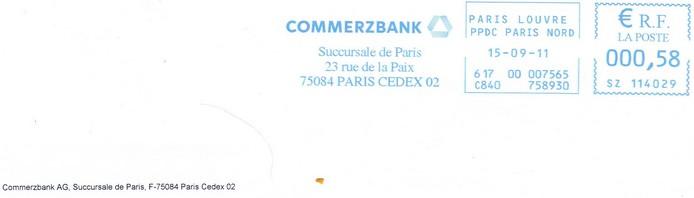 zetrader lettre remboursement 754 euros commerzbank timbre