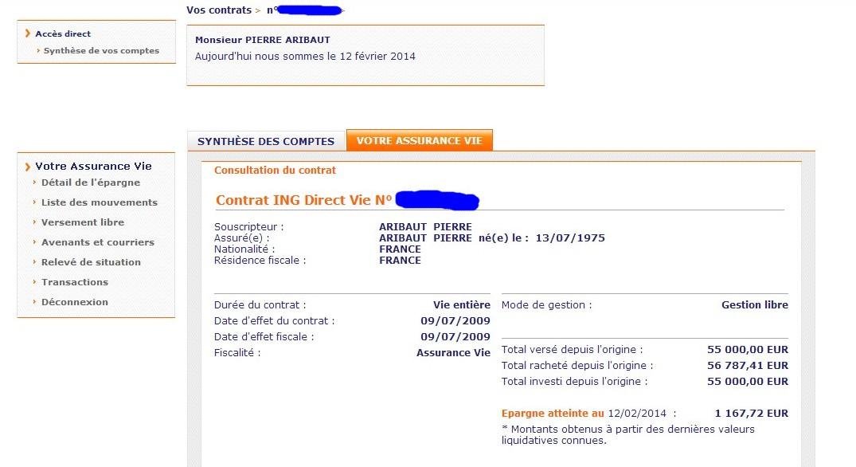 zetrader assurance vie ing direct 12 fevrier 2014