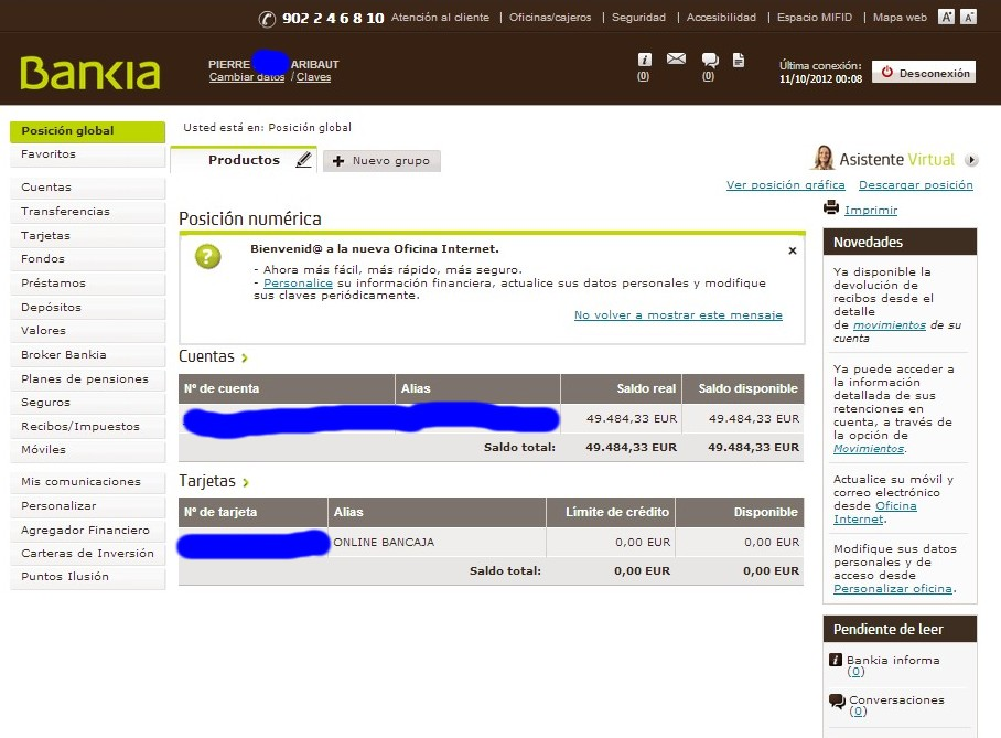 zetrader solde bankia 11 octobre 2012