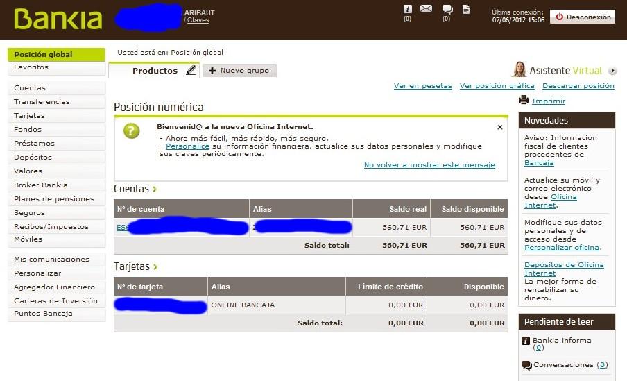 zetrader solde bankia 7 juin 2012