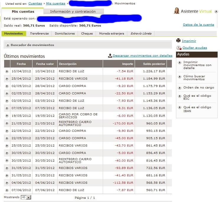 zetrader solde bankia derniers mouvements 7 juin 2012
