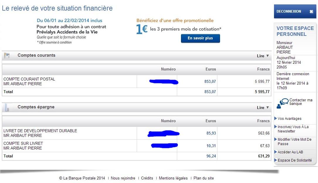 zetrader comptes banque postale ccp ldd csl 12 fevrier 2014