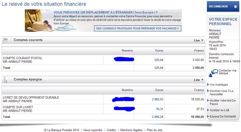 zetrader comptes ccp ldd csl banque postale 18 aout 2014