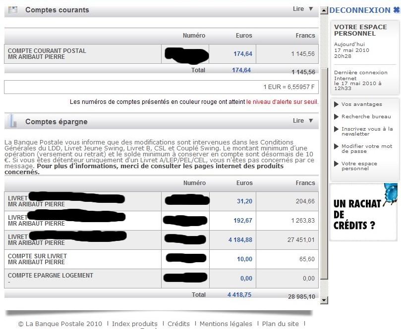la banque postale compte en ligne ccp