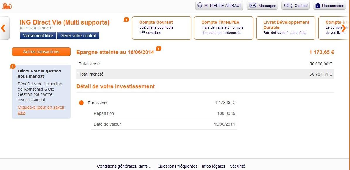 zetrader assurance vie fonds euros ing direct 16 juin 2014