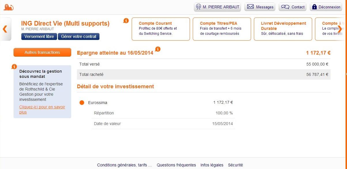 zetrader assurance vie fonds euros ing direct 16 mai 2014
