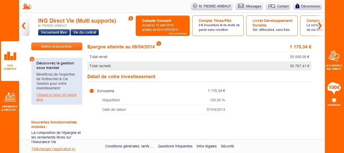 zetrader assurance vie fonds euros ing direct 8 avril 2014