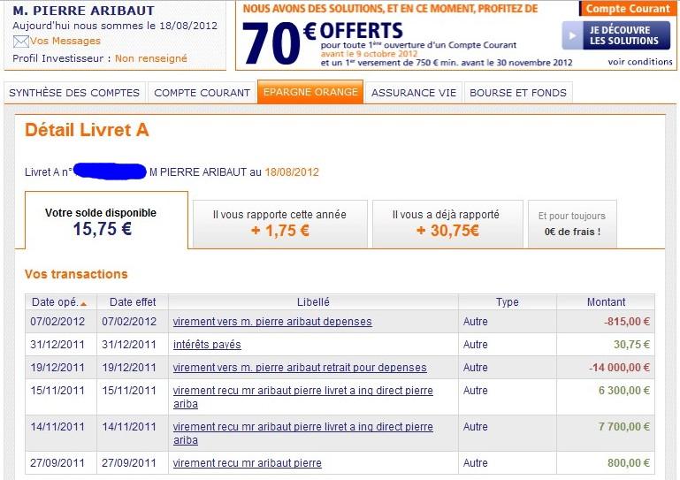 zetrader solde livret a ing direct 18 aout 2012
