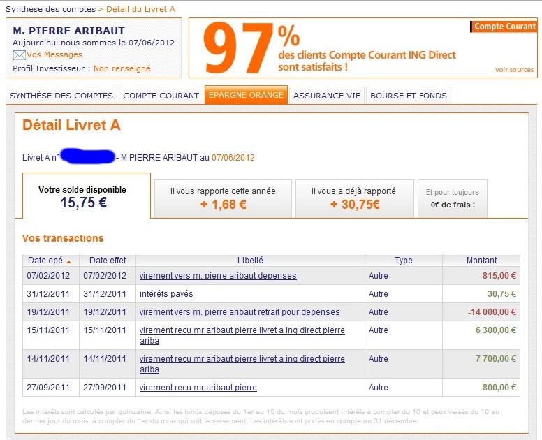 zetrader solde livret a ing direct 7 juin 2012