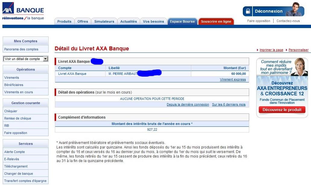 zetrader solde livret axa banque 7 juin 2012