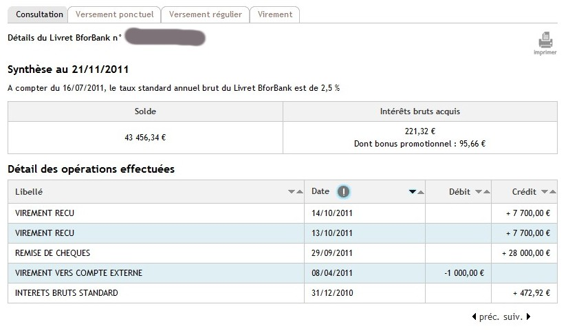 zetrader solde livret bforbank 20 novembre 2011