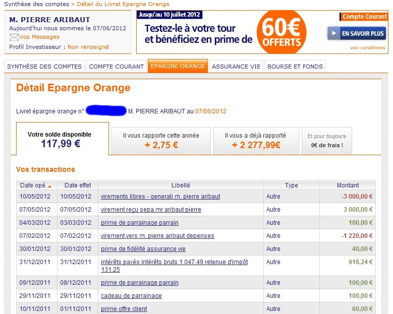 zetrader solde livret ing direct epargne orange 7 juin 2012