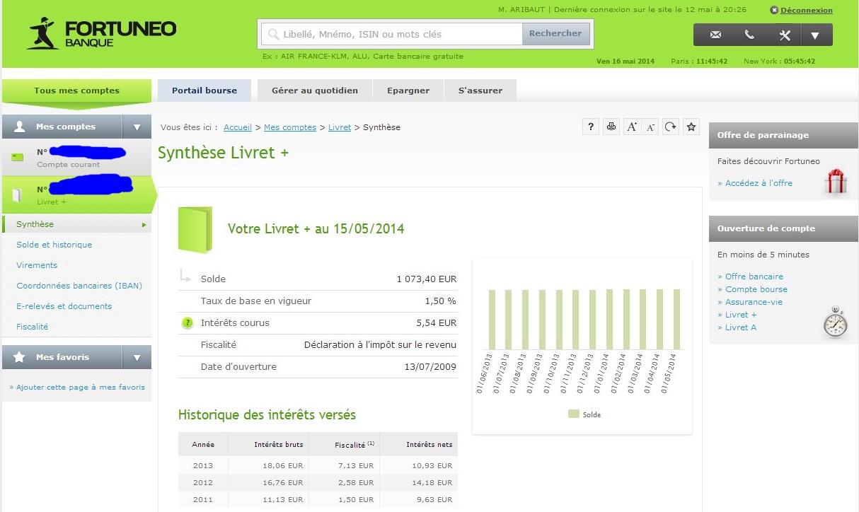zetrader solde livret plus fortuneo 16 mai 2014
