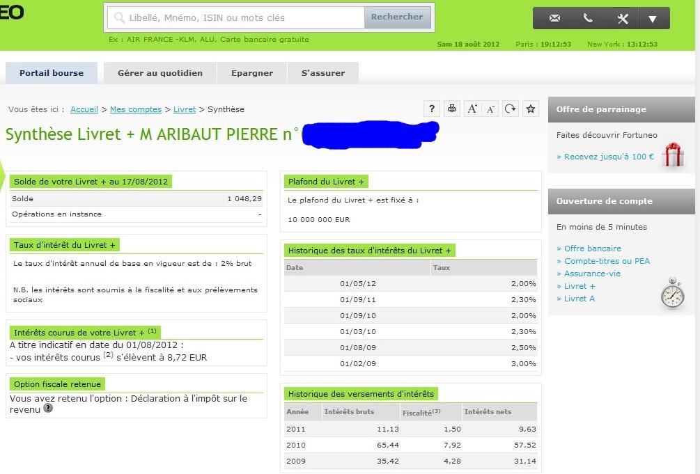 zetrader solde livret plus fortuneo 18 aout 2012