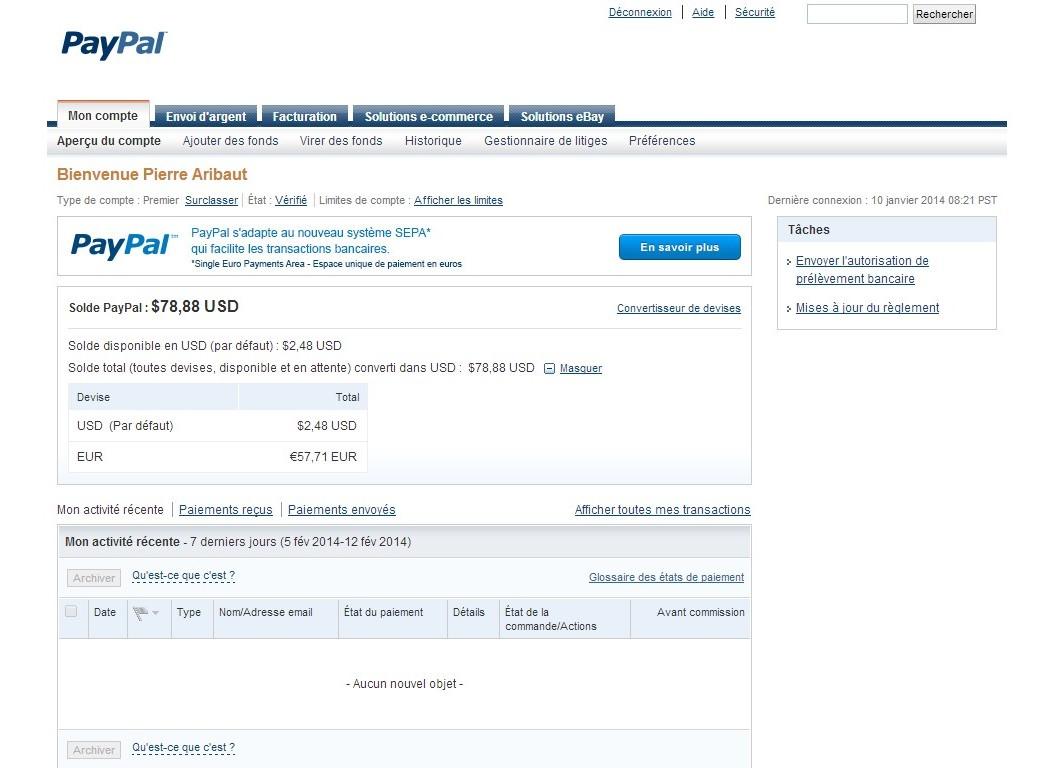 zetrader compte paypal 12 fevrier 2014