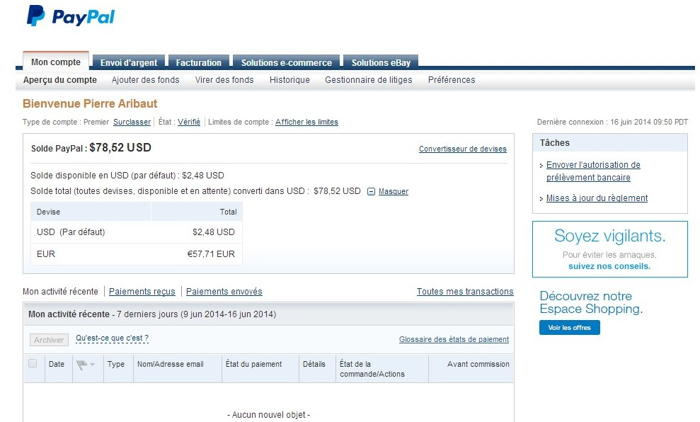 zetrader solde paypal 16 juin 2014