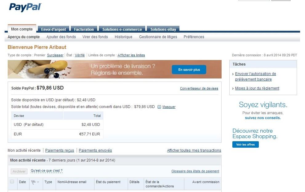 zetrader solde paypal 8 avril 2014