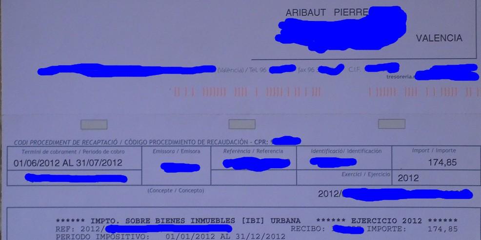 zetrader ibi taxe fonciere espagne premier appartement paiporta valencia